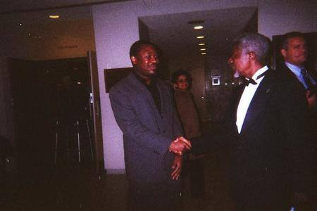 Rob with UN Secretary-General Kofi Annan